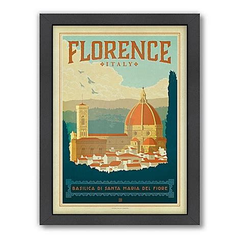 Travel Bed Florence World Travel Florence Framed Wall By Design