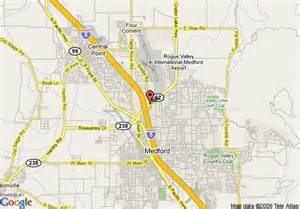 medford oregon maps map of ramada medford convention center medford