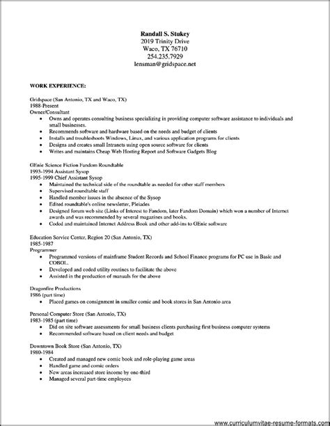 Resume Template For by Free Resume Templates For Openoffice Free Sles