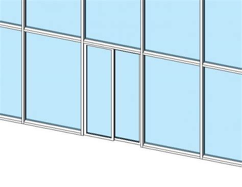 revit curtain wall door revitcity com object sliding curtain wall door