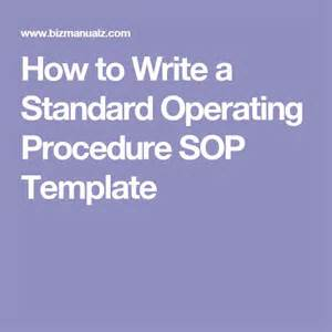 how to write standard operating procedure template de 25 bedste id 233 er inden for standard operating procedure