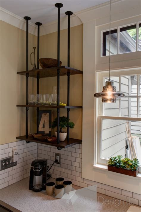 Suspended Shelves Kitchen by 15 Uses For Pipe Shelving Around The House