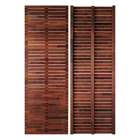bunnings 1800 x 600 x 43mm merbau fence panel compare club