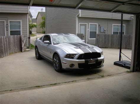 silver mustang with black stripes my new brilliant silver with black stripes gt500 the