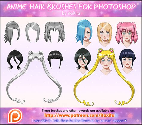 Hairstyle Photoshop Brushes by Anime Hair Brushes By Itaxita On Deviantart