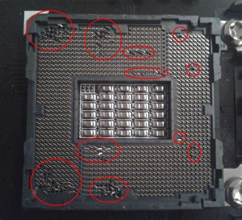 mainboard 2 cpu sockel neues mainboard pins vom cpu sockel verbogen gel 246 st