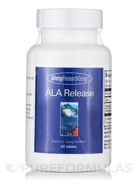 Ala Detox How Much To Take by Ala Release 60 Tablets
