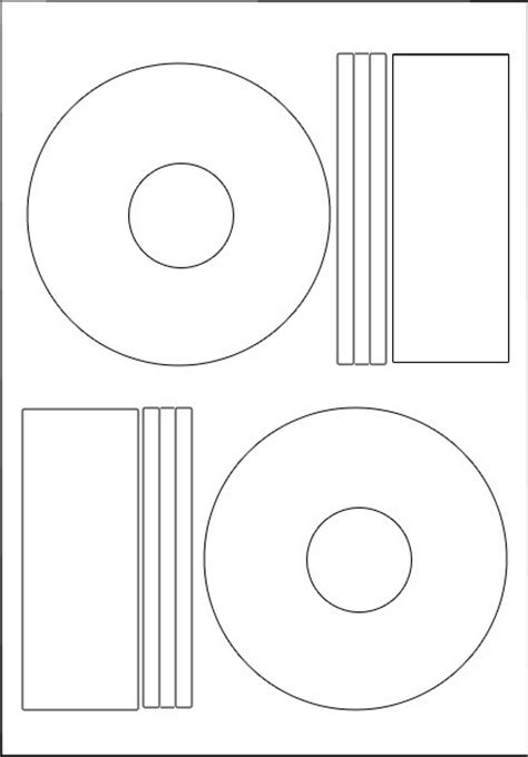 100 Hovat Cd Dvd Labels Matt Offset Style Ebay Cd Dvd Label Template