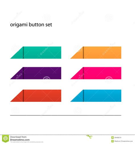origami button set royalty free stock images image 28468219