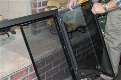 How To Remove Glass Fireplace Doors Fireplace Doors Guide November 2008