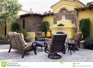 Outdoor Patio Pics Mansion Home Outdoor Plaza Patio Stock Images Image