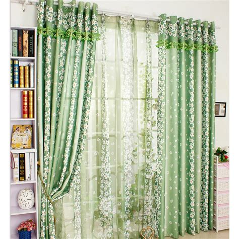decorative door curtains green chic floral decorative patio door curtains