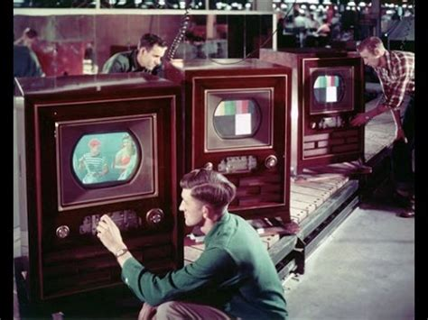 when was the color tv this week in tech history color tv sets into