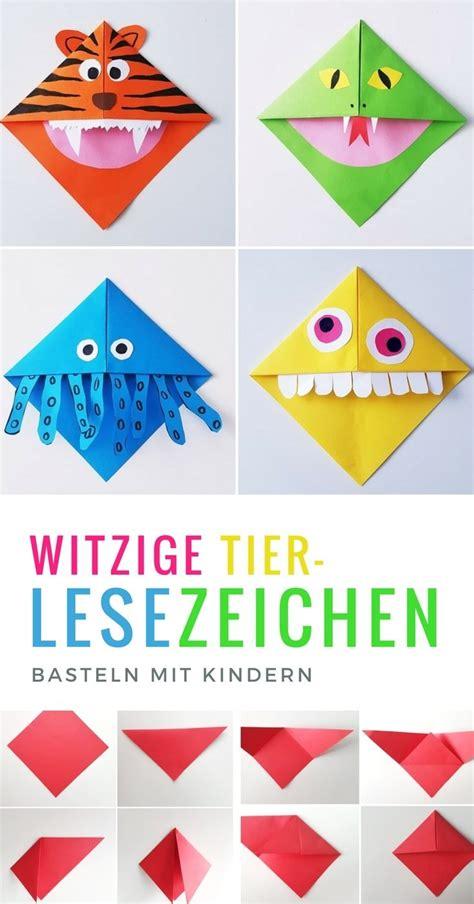 Lesezeichen Basteln by Diy Lesezeichen Tiere Herz Eck Lesezeichen Falten