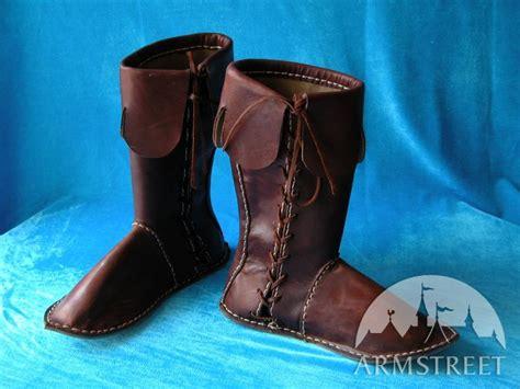 Handmade Leather Boots Renaissance - handmade high leather boots for renaissance