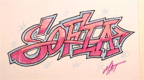 imagenes que digan sofia graffiti writing sofia name design 6 in 50 names