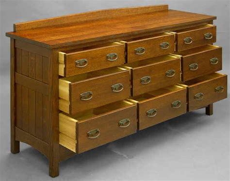 Bureau Drawer by Mission 9 Drawer Bureau 823