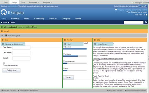 c application layout design working with layout web parts kentico 8 documentation