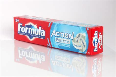 Pasta Gigi Formula Or pasta gigi dengan 3 perlindungan triclosan fluoride