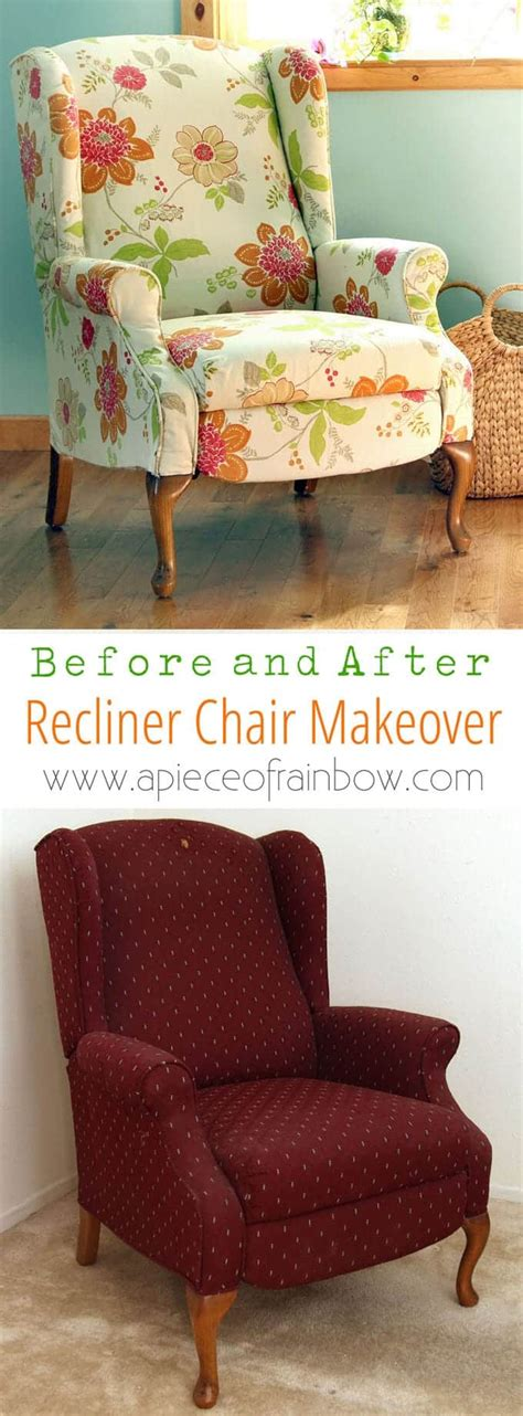 Wingback Chair Upholstery Tutorial by Fabric Chair Makeover Before After Page 2 Of 2 A