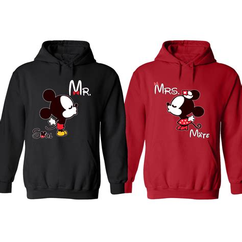 hoodie design for couples mickey and minnie disney soul mate couple matching funny