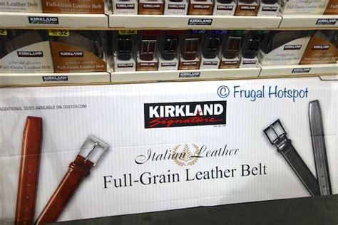 costco sale kirkland signature s leather belt 13 99