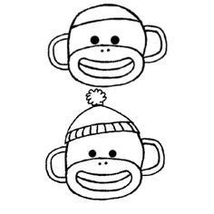 monkey head coloring page 1000 images about draw on pinterest cartoon monkey a