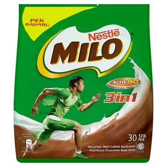 Milo 3 In 1 Sachet 700gr nestl 233 milo activ go 3 in 1 chocolate malt drink 30 stick