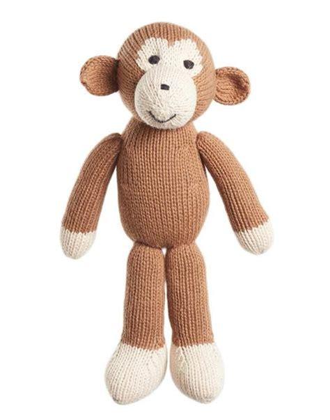 sock animals greenwich market fair trade handmade knit stuffed animal monkey the