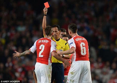 arsenal red membership mathieu debuchy s red card was very harsh claims arsenal
