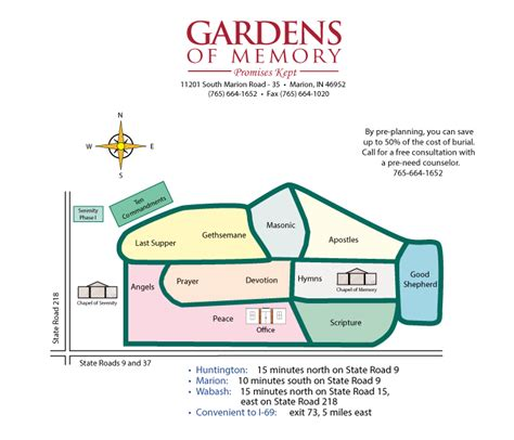 Gardens Of Memory by Cemetery Map Gardens Of Memorygardens Of Memory