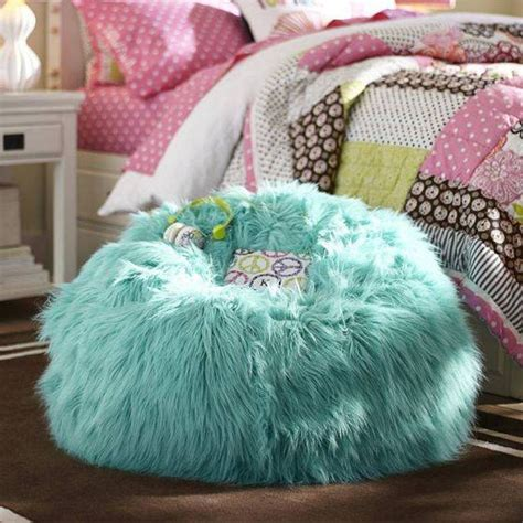 fuzzy teal bean bag chair chair for bedroom interior design bedroom