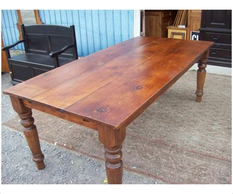 Turned Leg Seven Foot Harvest Table
