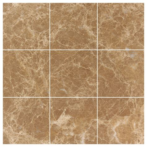 light emperador marble 4x4 polished wall and floor tile contemporary tile new york by