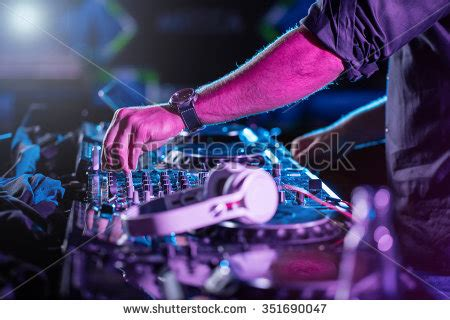 famous house music dj sound equipment nightclubs music festivals stock photo