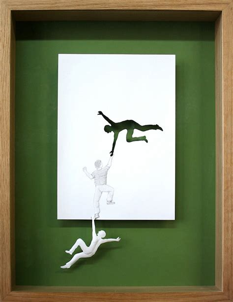 How To Make Paper Artwork - framed a4 paper cut using negative and positive space