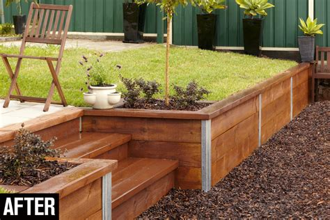 Diy Retaining Wall Sleepers by Build A Retaining Wall Handyman Magazine Retaining