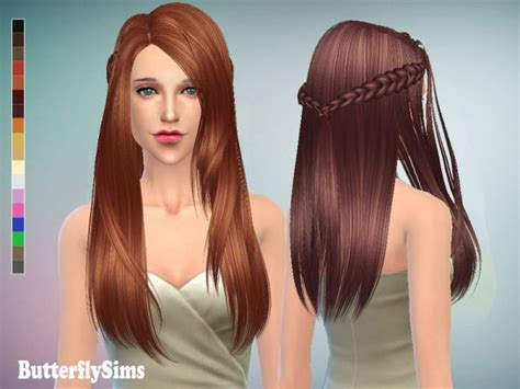 sims 4 hair custom content butterflysims hairstyle 136 sims 4 downloads