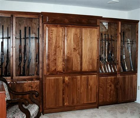 wood work custom wood gun cabinets pdf plans