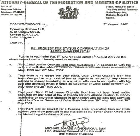 Acceptance Letter In Nigeria Nigeriaworld Reader S React The Feud Between Ag And Efcc Finance Minster And Central Bank