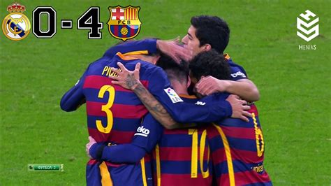 real madrid vs barcelona highlights 0 4 goals video real madrid vs barcelona 0 4 all goals and full highlights