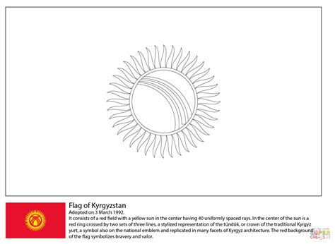 clever design kuwait flag coloring page artsybarksy