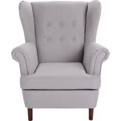 buy collection martha fabric wingback chair grey at