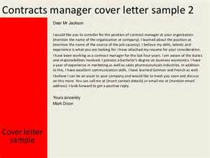 covering letter contract contracts manager cover letter