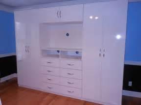 Wardrobe Dresser Combo Wardrobe Entertainment Center Combo White Gloss