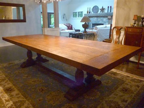 crafted dining room table top by ajc woodworking