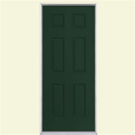 32 X 80 Exterior Door Masonite 32 In X 80 In 15 Lite Painted Steel Prehung Front Door With Brickmold 29234 The