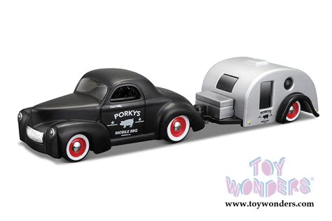 Machines 164 Willys Coupe 1941 Pink 1941 willys traveler trailer 15368wll 1 6 scale maisto wholesale diecast model car