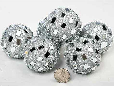 Silver Decorative Balls by Silver Mirrored Disco Balls Centerpiece Mirrors