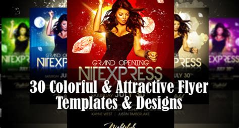 30 Colorful Attractive Flyer Templates Designs Web3mantra Attractive Flyer Templates